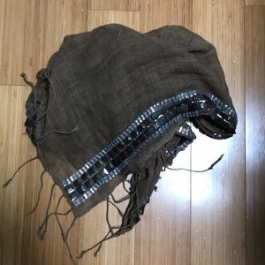 Raj linen embellished long scarf